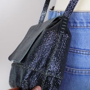 anthropologie Bags - hunter green leather crossbody purse handbag